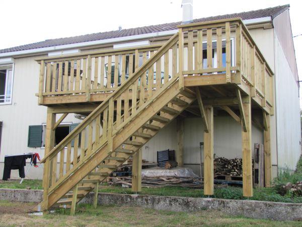 Innovbois habitat nos r alisations en bois pour les for Amenagement terrasse en hauteur