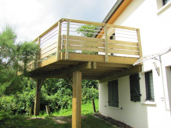 Terrasse suspendue en bois - Terrasse suspendue bois prix ...